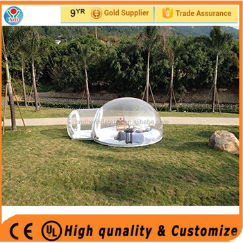 High quality transparent inflatable tent /igloo inflatable clear tent / outdoor camping bubble tent