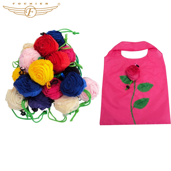 Creative Foldable Flower Fruit Polyester Reusable Shopping Bag