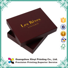 Book shape two pieces hardcover gift box with gold foil hot stamping logo