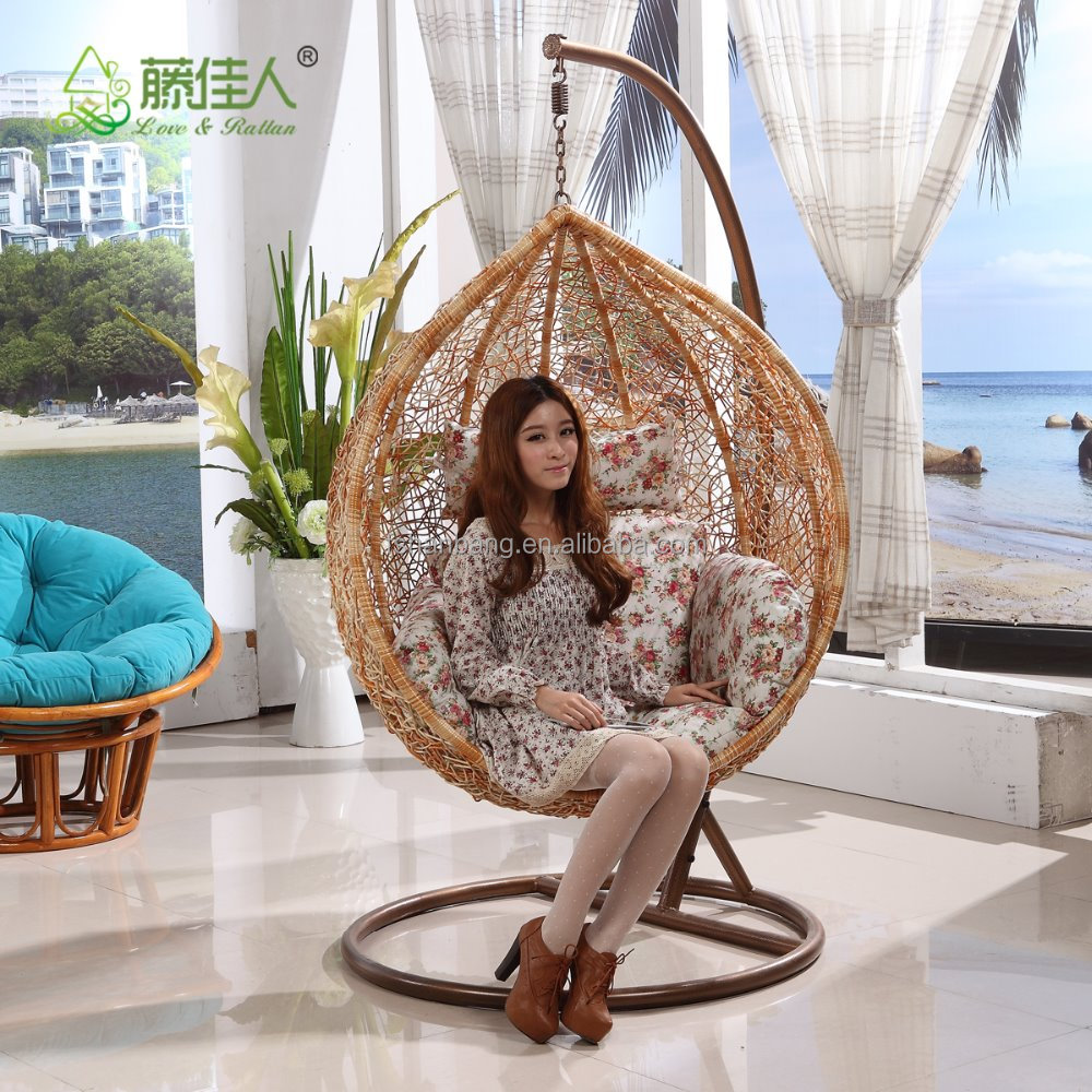 Modern living room chairs Indoor Rattan Swing Chair for Living Room