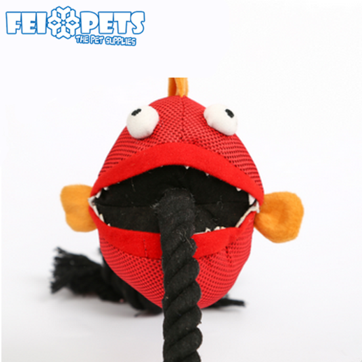 Wholesale cute funny soft unique fish shaped pet toy