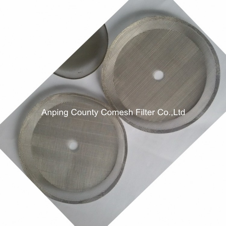 50 Micron Stainless Steel Mesh Round Screen Filter Plate