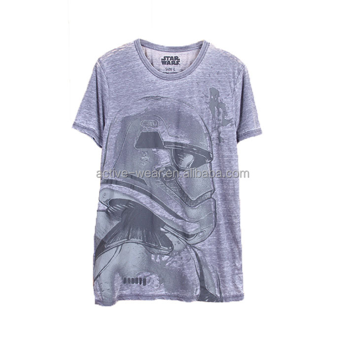 garments wholesale high quality short sleeve round neck men t-shirt print
