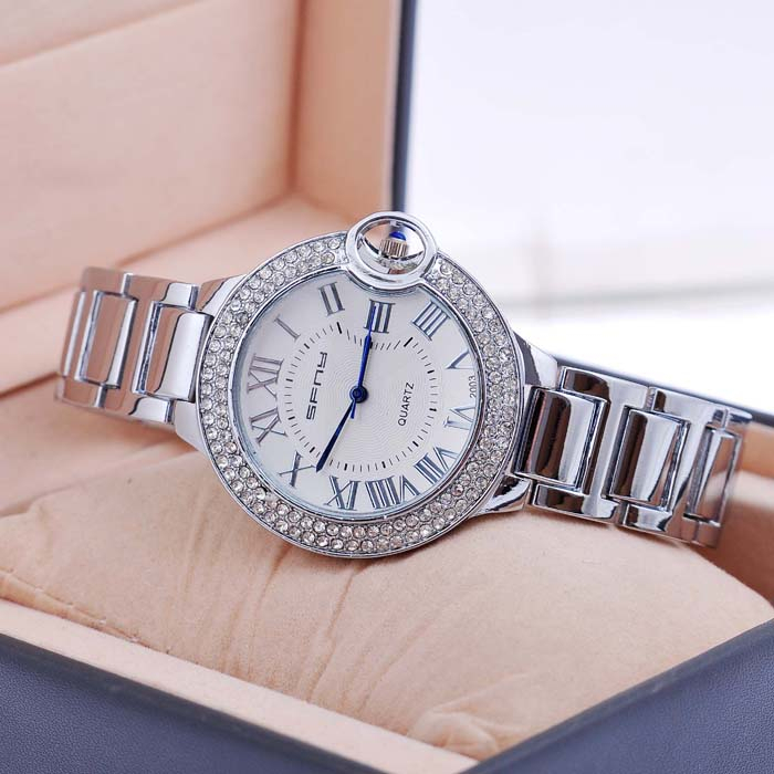 Couple Lover Women Stainless Steel Back Quartz Watch Men Casual Clocks
