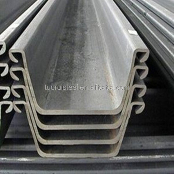 Hot sale size of steel sheet pile/retaining walls/Flange Plate steel sheet pile