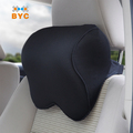 BYC Car Seat Neck Pillow Adjustable Belt 70D Memory Foam Neck Pillow