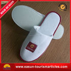 hotel emboridey waflle slippers hotel cloth slipper anti slip bath slippers