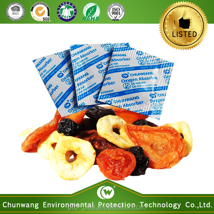 China Supplier Food Storage Oxygen Absorber For Dried Fruit & Vegetables