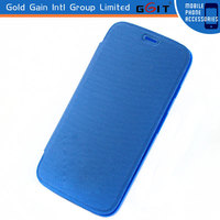 High Quality Pure Color PU Leather Case for Motorola G X1032 Leather Flip Cover