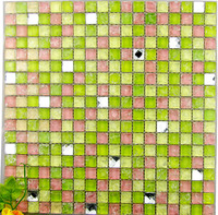 good face glass tile,slithery glass mosaic, glass mosaic tiles mixed for covering wall well decoration