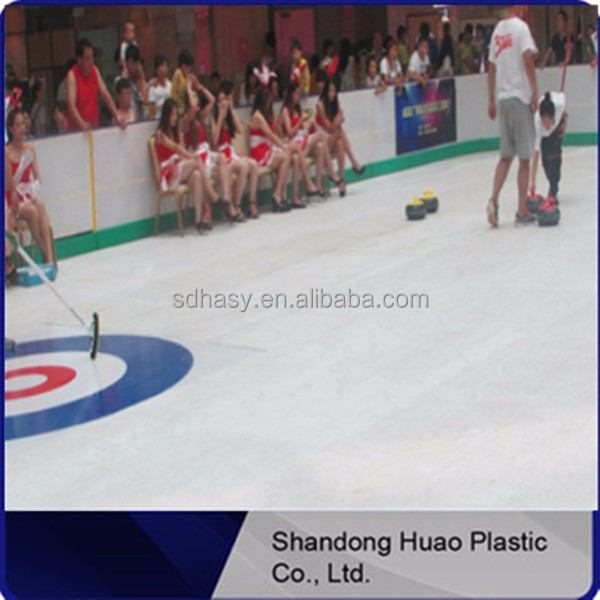 High quality synthetic ice hockey rink floor / artifical ice sticks / uhmwpe plastic boards