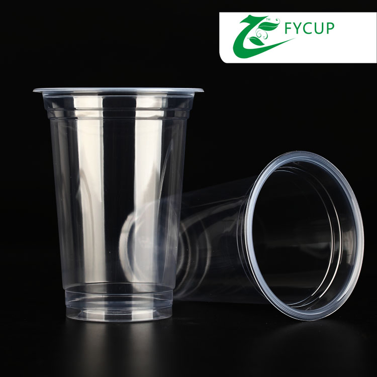 wholesale reusable plastic coffee cup with lids,16oz plastic bubble tea cup with sealer film model 500E