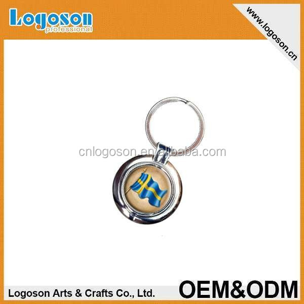 2015 popular items custom design vintage sweden flag swedish keychain