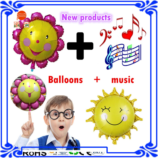 27inch animals cartoon emoji musical balloons foil balloons with individual packing