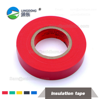 High Voltage Red color Rubber PVC electrical insulation tape