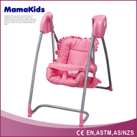 The newest electric baby swing and baby high chair with music, 2 in 1hanging baby swing