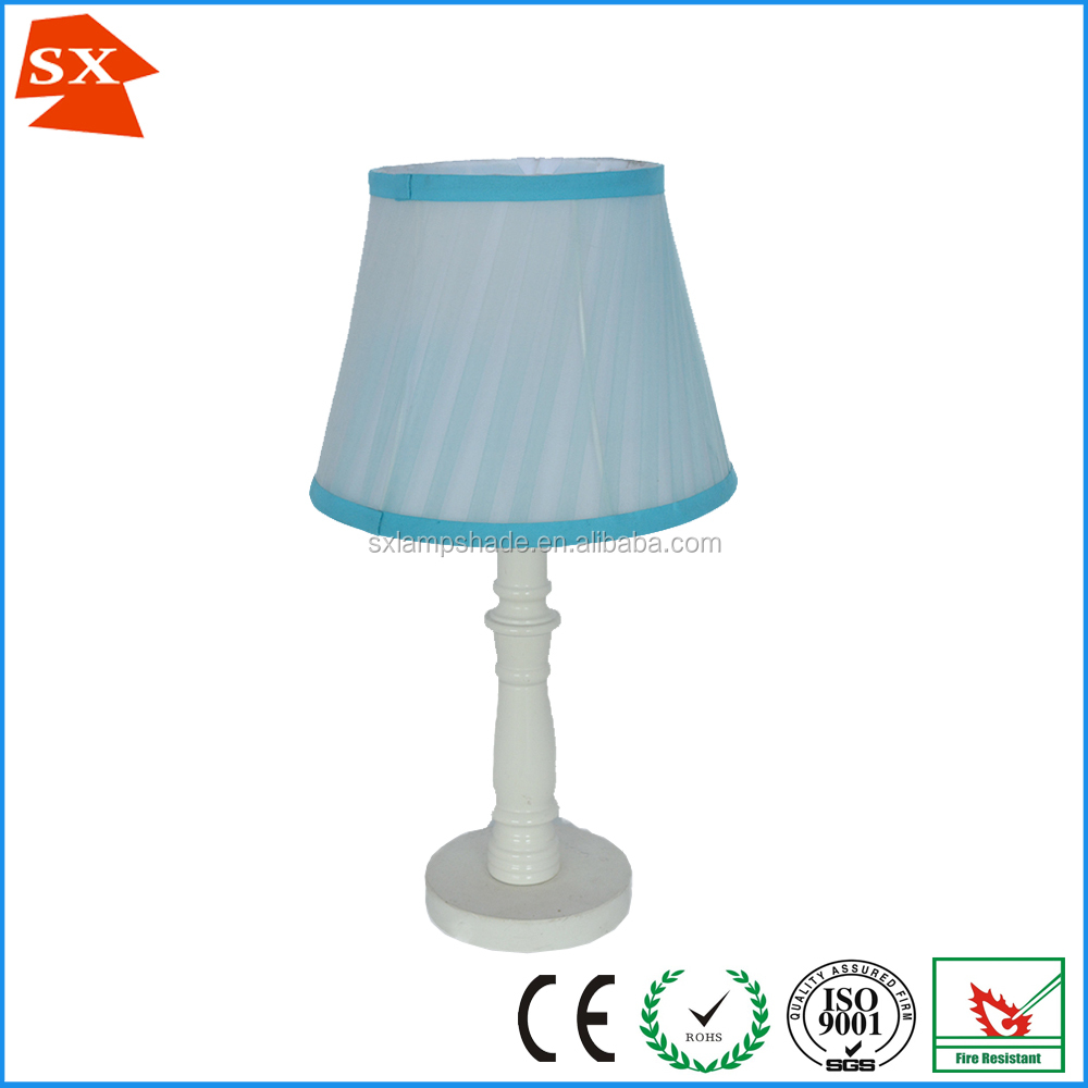 Chinese style pristine top selling light blue lining lady table lampshade