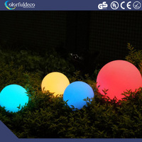 Waterproof pe plastic outdoor glow party led round globe ball balloon light
