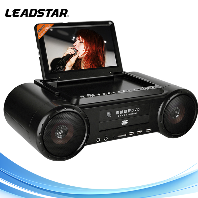 Home appliance midi dvd Karaoke Player with 9 inch screen TV FM DVD player Game Battery LD-1011D