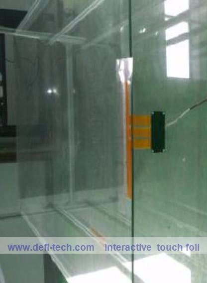 10 touch points 40inch touch foil throuhgh glass