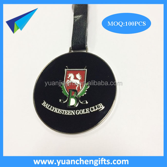 Custom golf bag tag /Leather straps tags /Engraved metal golf hang tags