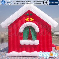 Wholesale Tent Type New Inflatable Christmas House Decorations Chimney and Stocking