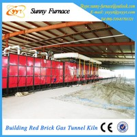Red baked brick building tunnel kiln