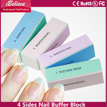 Professional ibelieve nail art tools: 4 sides nail buffer block all in one nail buffer