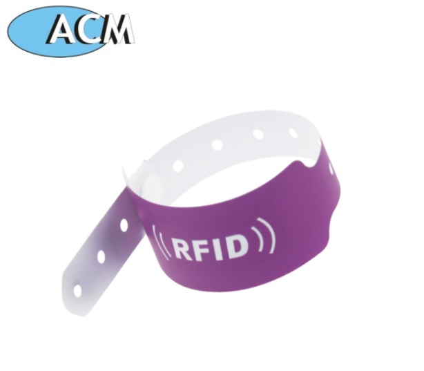 China alibaba Soft PVC LF Disposable rfid tag wristband for hospital