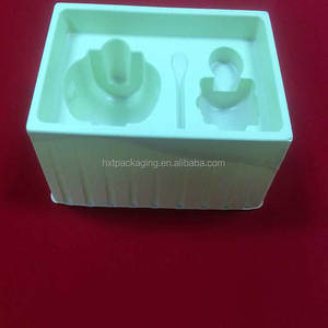 Disposable White PVC Flocking Blister Package Tray for cosmetic