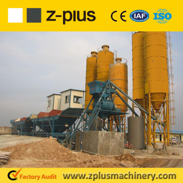 Company offer HZS25 second hand concrete mixing plant with 50t cement silo pricing