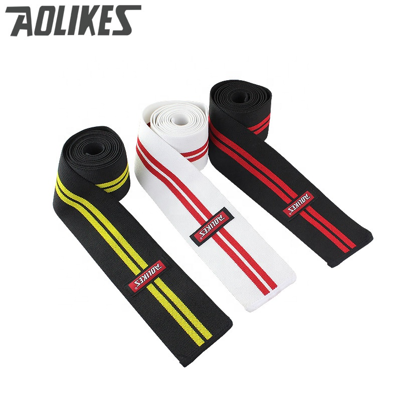200*8CM Knee Wraps Fitness <strong>Weight</strong> Lifting Sports Knee Bandages Squats Training Equipment Accessories for Gym