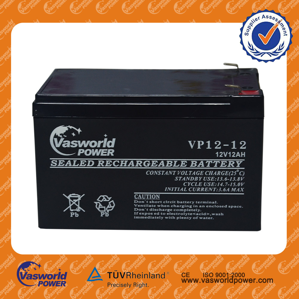 High quality storage battery motor battery lead acid battery 12v12AH