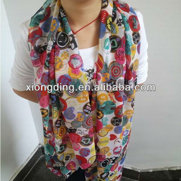 New polyester chiffon scarf wholesale and manufacture