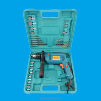 KAQI power tools impact drill tool set 28pcs electrical complete tool box set
