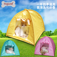 Foldable Pet Tent Cute Polka dots cat House Camp Water Resistant cat tent