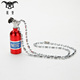 Car Accessory Latest Fashion lucky mini nitrous oxide bottle car pendant for Men