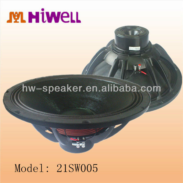 1500W RMS high power 21 inch neodymium 4 ohm outdoor speaker