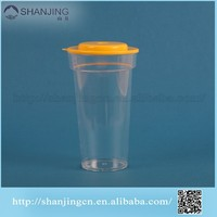 promotional high quality low price 16oz plastic PP cup with flat lid