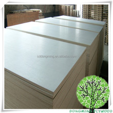 white color finished poplar core plywood