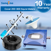 Sanqino 4G LTE 2600MHz Full Kit Single Band Mobile Cell Phone Network Cellular Signal Booster with antennas Boost your signal