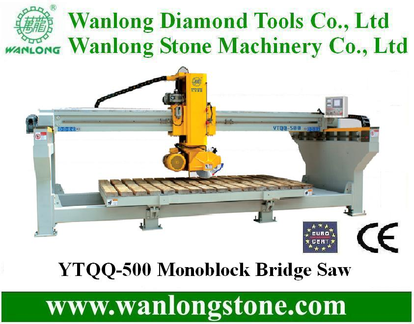 Wanlong block bridge cutting machine with 90 degree Rotating Head and 0-85 Hydraulic Tilting Table