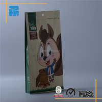 Alibaba custom printed aluminum foil lined side gusset kraft paper bag