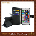 Cheap price luxury leather cover case for iphone 6 wallet wholesale
