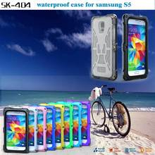 mobile accessories waterproof with kickstand dirtproof case for Samsung Galaxy S5 I9600 with screw