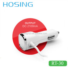 Micro USB/8 Pin Cable Car Charger Multi USB Port Optional Output 2.1A/3.4A Car Charger