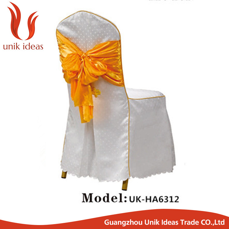 wholesale wedding chair cover with tie back butterfly