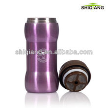 300ml wave shape stainless steel vacuum coffee thermos with filter