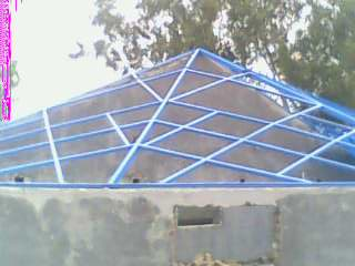 steel frame for fiberglass shed