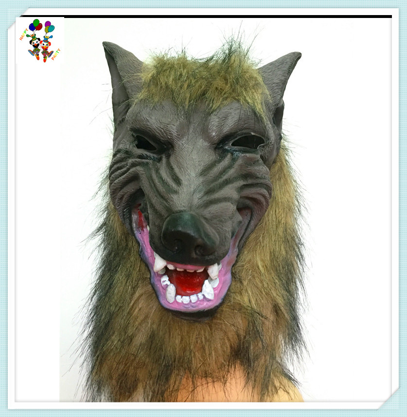 Halloween Party Fancy Dress Latex Wolf Head Animal Masks HPC-2698
